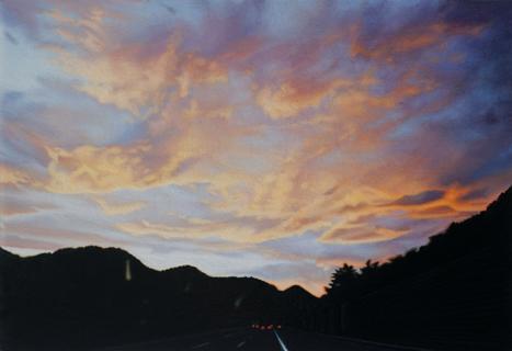 Himmel | 2017 | Öl auf MDF | 15 x 22 cm