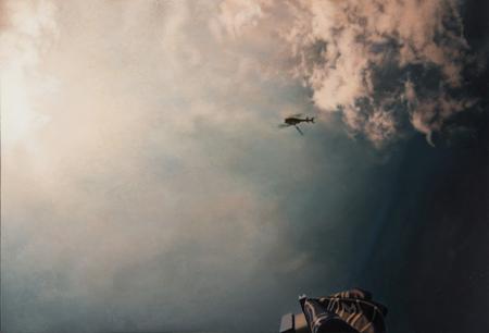 Hubschrauber | 2017 | Öl auf MDF | 12,6 x 18,8 cm