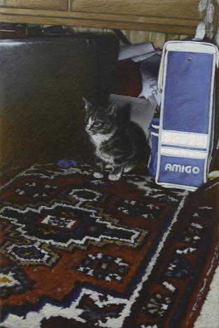 Katze_II | 2014 | Öl auf MDF | 18,8 x 12,6 cm