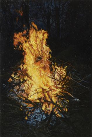 Feuer | 2013 | Öl auf MDF | 18,8 x 12,6 cm