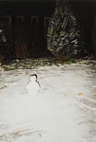 Schneemann I | 2012 | Öl auf MDF | 27,7 x 18,6 cm