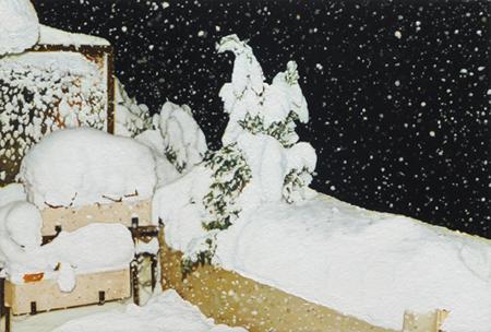 Schnee | 2017 | Öl auf MDF | 12,6 x 18,8 cm