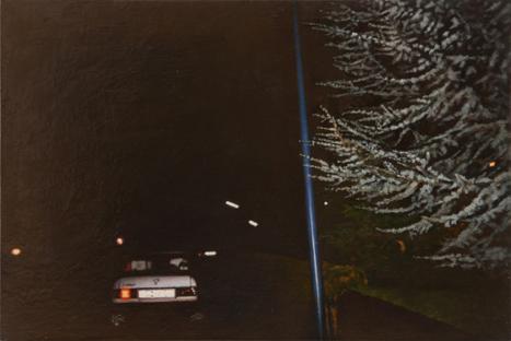 Straße| 2012 |  Öl auf Tischlerplatte | 18,8 x 12,6 cm